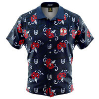 Sydney Roosters NRL 2021 Tribal Hawaiian Shirt Button Up Polo Shirt Sizes S-5XL!