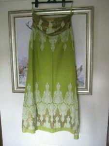 BNWT RARE Stunning Monsoon Maxi Dress Green Sleeveless Size 22 Sequinned
