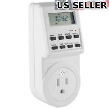 2x ABI Digital Power Timer 7-Day Programmable 3-Prong Socket Switch (2-Pack)