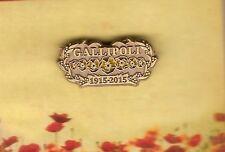 REMEMBRANCE DAY NOV 11th - GALLIPOLI CENTENARY OF SERVICE POPPY LAPEL PIN