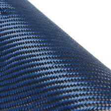 Blau Carbongewebe Kohlefasergewebe Köper für Epoxidharz Karosserie Auto Zubehör