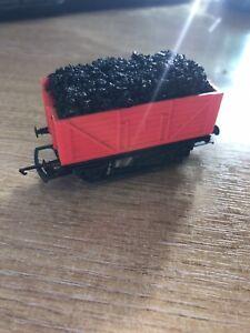 Model Railway Tri-ang Red Coal Wagon