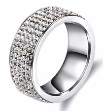 5 Row Crystal Ring. Size 10