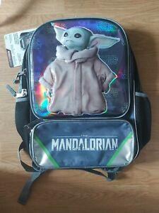 Disney Kids Star Wars Mandalorian Backpack Baby Yoda Boys Girls School Bag