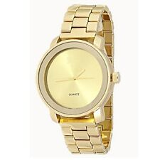 Gold Watch Designer Classy Watch Fashion Unisex Geneva Metal Band Women