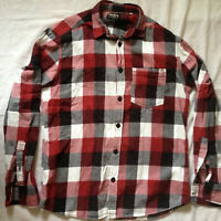 JACK & JONES  PLAID FLANNEL MEN'S  L/S SHIRT MEDIUM