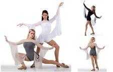 Contemporary INFINITY Ballet Dance Costume w/ Drapes Acro Biketard Child & Adult