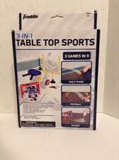 Franklin 3 in 1 Table Top Sports Table Tennis, Football & Hockey Ages 3+