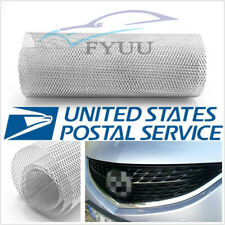 "Silver Rhombus Style 100×33cm Autos Racing Grille Net 0.31""×0.63"" Mesh"
