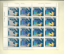 Canada SC #893a 1981 17c Maps of Canada SOUVENIR SHEET MNH FREE SHIPPING