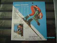 schöner Block von der Olympia 1988 in Calgary gestempelt