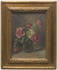 "Frederick J. Boston (American, 1855 -1932) ""Flowers"", 1928. Oil on canvas Signed"