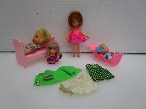 Vintage Lot of Mattel Liddle Kiddles + Hasbro Tiny Teen Doll