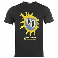 Official Mens Primal Scream T Shirt Crew Neck Short Sleeve Cotton Casual Tee Top