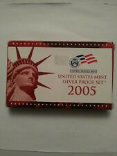 2005 U.S MINT SILVER PROOF SET US Coins with Box