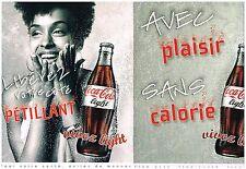 Publicité Advertising 2008 (2 pages) Coca Cola Light