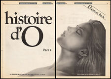 "THE STORY OF ""O"" part 2__Original 1982 Cannes Trade AD promo/ poster__SANDRA WEY"