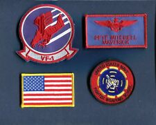 PETE MAVERICK MITCHELL TOP GUN MOVIE FWS US NAVY F-14 Squadron Costume Patch Set