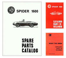 Alfa Romeo  SPIDER  Junior 1300 1600  -spare parts catalog - MANUALE RICAMBI !!