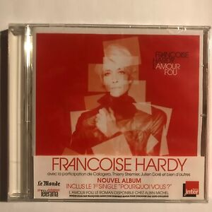 Françoise Hardy l'Amour Fou cd 10 titres neuf sous blister