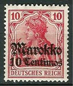 Germany Foreign Post Offices Morocco 1911 MH - 10C on 10Pf Deutsches Reich Mi-48