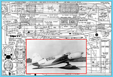 """Model Airplane Plans (UC): Curtiss Seagull 38"""" 1/12 Scale .29-.49 (Musciano)"""
