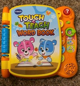 VTech Touch and Teach Word Book Featuring More Than 100 Words-Works