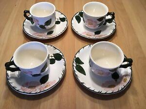 Villeroy &  Boch Wildrose Kaffeetassen mit Untertassen