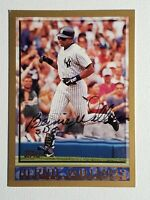 1998 Topps Bernie Williams Autograph Card Auto New York Yankees Signed #293 HOF