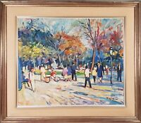SUNDAY RIDE. OIL ON CANVAS. SIGNED BY SERS. 1979