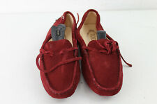 TOD'S Red Suede Boat Shoes Size Eu 35.5