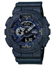 Casio G-Shock Blue Denim Pattern Limited Edition Watch GA110DC-1A GA-110DC-1ADR