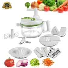 DELUXE Multi-Functional Food Processor Vegetable Fruit Egg Slice Dice Chop Grate