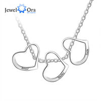 Personalized Women Necklaces 925 SiLVER Charm Engrave Names Pendant Jewelry Gift