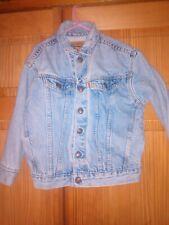 Rare Vintage 80s Little Levis Denim Jean Trucker Jacket SZ 7 Orange Tab Child