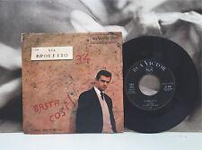 """SERGIO ENDRIGO - VIA BROLETTO / BASTA COSI 7"""" 45 GIRI ITALY RCA 1962"""