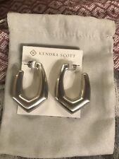 Kendra Scott Kaia Hoop Earrings Silver KS Pouch