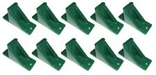 Green Plastic Mini Roof Snow and Ice Guard-10 PACK | Stop Sliding Snow Buildup
