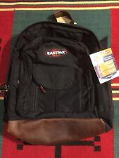 Vintage NOS EASTPAK Sugarbush Leather Bottom Backpack Black 90s USA Made!!!
