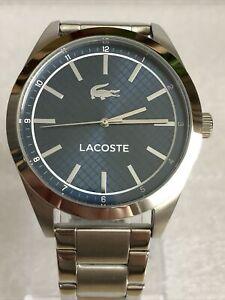 Lacoste Edmonton Men's Silver Stainless Steel Bracelet Watch.
