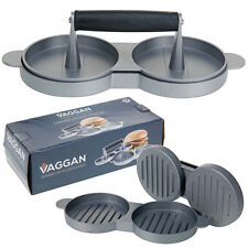 Vaggan Double Burger Press Meat Beef Hamburger Maker Quarter Pounder Patty Mould