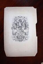 ✒ ca.1850 Contes LA FONTAINE Portrait de Jean de la Fontaine GRAVURE sur CHINE