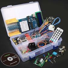 UNO R3 Ultimate Starter Kit for Arduino 1602 LCD Stepper Servo Ultrasonic Motor