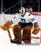 1980's NHL Hartford Whalers Goalie John Garrett Color 8 X 10 Photo Free Shipping
