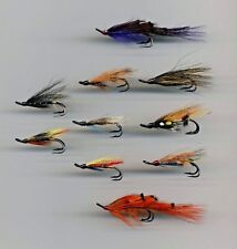 Salmon Flies: Traditional Double Hook Hairwing x 10 size 6 (code 248)