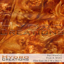 HYDROGRAPHIC FILM FOR HYDRO DIPPING WATER TRANSFER FILM BURL WOOD 2 WOOD GRAIN