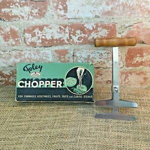 Vintage Foley Chopper wood handled with box, Foley Chopper Good Housekeeping
