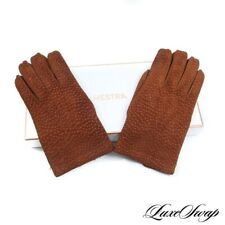 #1 MENSWEAR Hestra Snuff Brown Carpincho Suede 100% Cashmere Lined Gloves 8 #R48