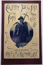 1970 Country Joe & The Fish Sons Of Champlin Bill Graham Fillmore Poster Bg 217