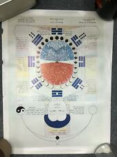 Vintage Mantak Chia Qi Gong Acupuncture TCM Poster Chart - Harmony of Yin/Yang